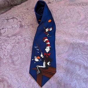 Dr. Seuss Cat in the Hat Fishing Silk Tie